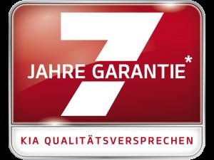 Logo Kia 7 Jahre Herstellergarantie